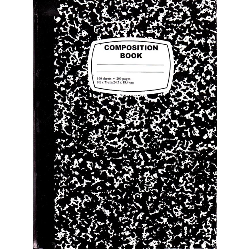 01039ultra Hard Cover Composition Notebook 100 Sheets
