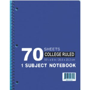 1 Subject Notebooks