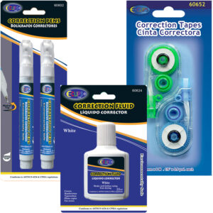 Correction fluid & Correction tape